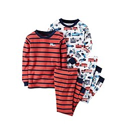 Carter's® Baby Boys' 12M-12 Four-Piece Fire Truck Pajama Set