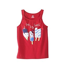 Mix & Match Girls' 2T-6X Ice Cream Front Knot Tank