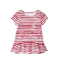 Mix & Match Girls' 2T-6X Striped Peplum Tee