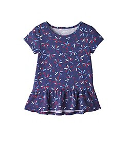 Mix & Match Girls' 2T-6X Fireworks Peplum Tee