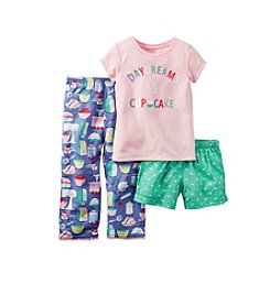 Carter's® Girls' 12M-12 3-Piece Daydreams Pajama Set