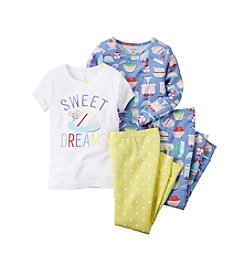 Carter's® Girls' 4-Piece Sweet Dreams Pajama Set