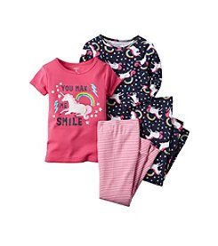 Carter's® Girls' 4-Piece Unicorn Pajama Set