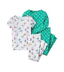 Carter's® Girls' 4-Piece Butterfly Pajama Set