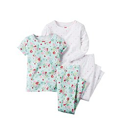 Carter's® 4-Piece Flower Pajama Set