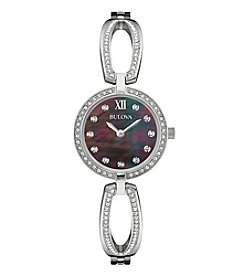 Bulova® Women's Swarovski® Crystal Black Dial Watch