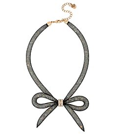 Betsey Johnson® Mesh Bow Frontal Necklace