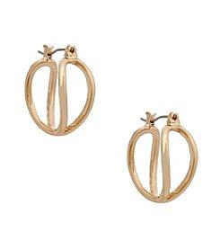 Erica Lyons® Goldtone Small Hoop Pierced Earrings