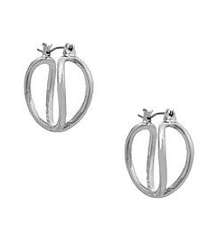 Erica Lyons® Silvertone Small Hoop Pierced Earrings