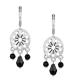 The Sak® 3-Bead Disc Drop Earrings
