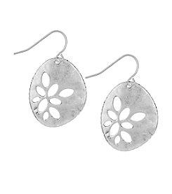 The Sak® Silvertone Pierced Metal Drop Earrings