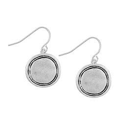 The Sak® Silvertone Engraved Disc Drop Earrings