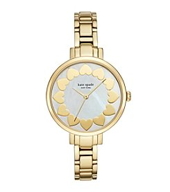 kate spade new york® Women's Goldtone Gramercy Heart Watch