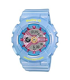 Baby-G® Women's Pastel Blue Bracelet Watch