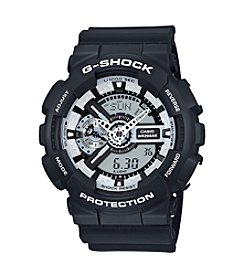 G-Shock® Men's XL Case Black Analog-Digital Watch with White Dial