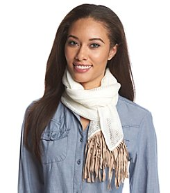 Collection 18 Solid Suede Fringe Scarf