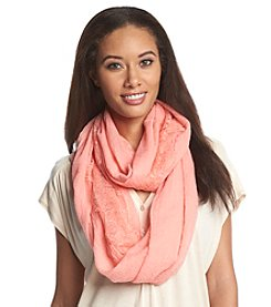 Cejon® Lace Border Loop Scarf
