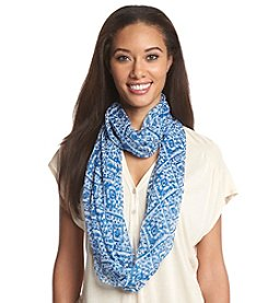 Cejon® Distressed Diamonds Infinity Scarf