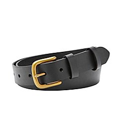 Fossil® Double Leather Keeper Belt