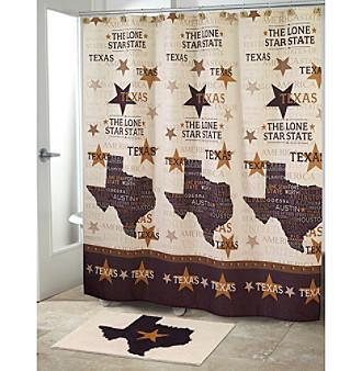 Avanti® Lone Star Shower Curtain or Bath Rug