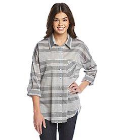Living Doll® Striped Oversized Shirt