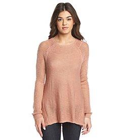 Taylor & Sage™ Pointelle Chiffon Sweater