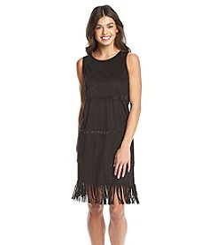 Kensie® Faux Suede Fringe Dress