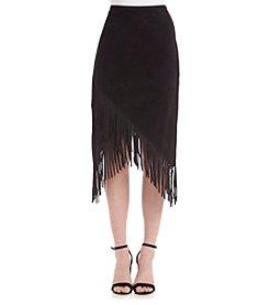 Kensie® Fringe Tulip Hem Skirt