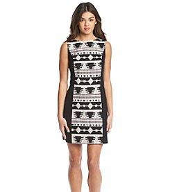 Kensie® Geo Print Ponte Dress