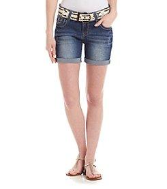 Wallflower® Cuffed Denim Shorts