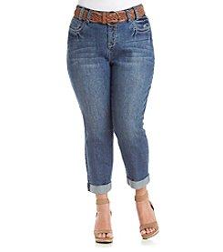 Wallflower® Plus Size Cropped Jeans
