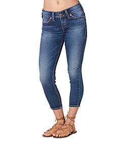 Silver Jeans Co. Suki Mid Rise Bold Stitch Capris