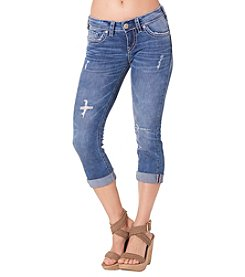Silver Jeans Co. Aiko Mid Rise Destructed Capris