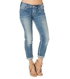 Silver Jeans Co. Boyfriend Mid Rise Skinny Jeans