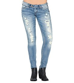 Silver Jeans Co. Destructed Low Rise Skinny Ankle Jeans