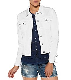 Silver Jeans Co. White Denim Jacket