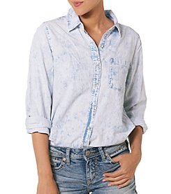Silver Jeans Co. Acid Wash Denim Shirt
