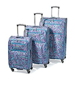 Leisure Vector Teal Paisley Luggage Collection