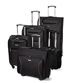 Leisure Vector Black Luggage Collection + $50 Gift Card by mail