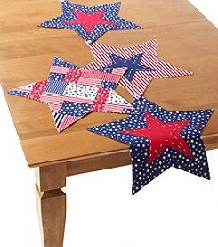 LivingQuarters Reversible Star Shaped Table Linens