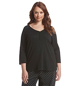 KN Karen Neuburger Plus Size Raglan Lounge Top