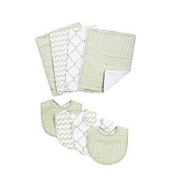 Trend Lab Sea Foam 8-Pc. Bib and Burp Cloth Set