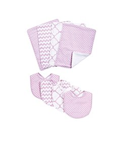 Trend Lab Orchid Bloom 8-pc. Bib and Burp Cloth Set