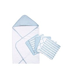 Trend Lab Blue Sky 6-pc. Dot Hooded Towel and Wash Cloth  Set