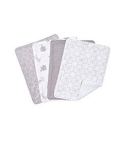 Trend Lab Grey and White Circles 4-pk. Burp Cloth Set