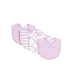Trend Lab Orchid Bloom 4-pk. Bib Set