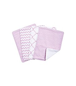 Trend Lab Orchid Bloom 4-pk. Burp Cloth Set