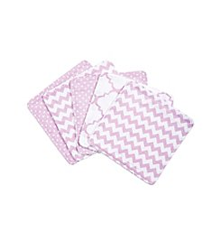 Trend Lab Orchid Bloom 5-pk. Wash Cloth Set