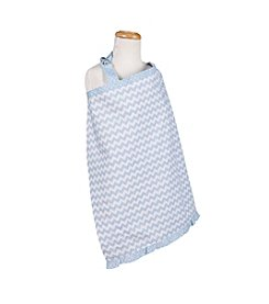 Trend Lab Blue Sky Chevron Nursing Cover
