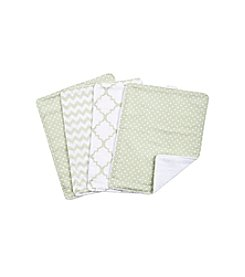 Trend Lab Sea Foam 4-pk. Burp Cloth Set